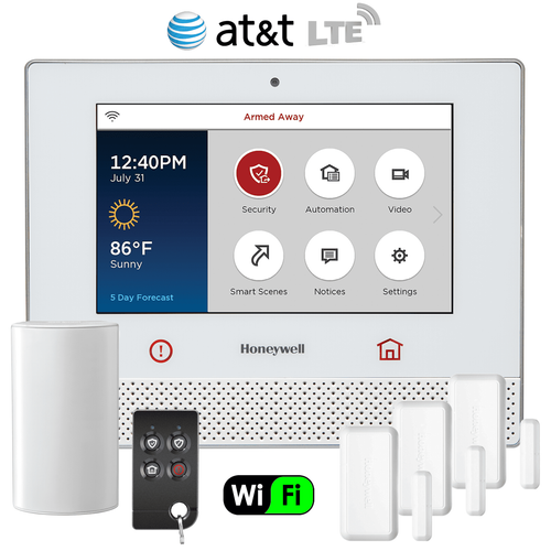 Honeywell Lyric Controller Dual-Path Wireless Security System Kit (via AT&T LTE Network)