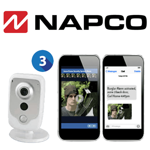 Napco Residential Home Video Surveillance Services (Up to 3 Cameras)