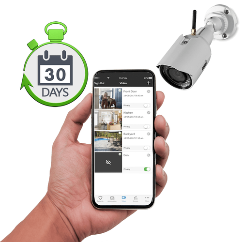 Total Connect Residential Home Video Surveillance Services with 30-Days Storage (Powered by Resideo's Honeywell App)