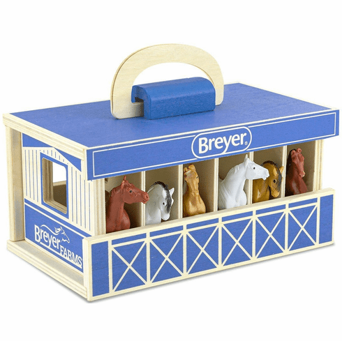 Breyer - Farms Wood Carry Stable - Stablemates Series