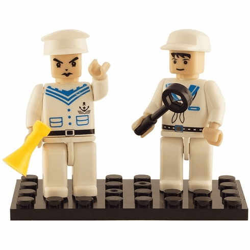 Bric Tek - Navy Mini Figures - 2 Figures