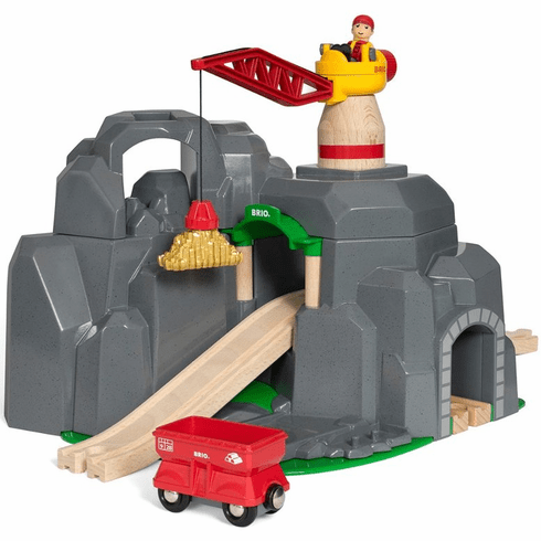 BRIO Railway - Crane & Mountain Tunnel
