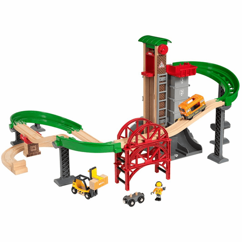 BRIO Railway - Lift & Load Warehouse Set