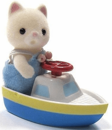 Calico Critters - Baby Carry Case -Cat and Toy Boat