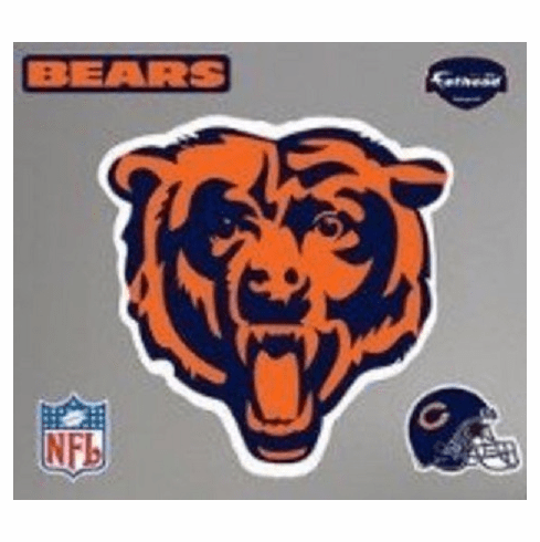 Chicago Bears Logo Wall Sticker Decal Decoration Vinyl Art Poster Decor Mancave