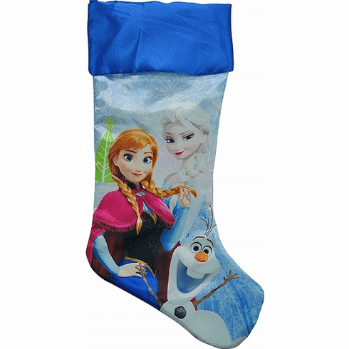 Disney Frozen Christmas Stocking 20inch Satin Fully Printed