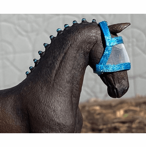 Fly Mask for Adult Horses  - Blue