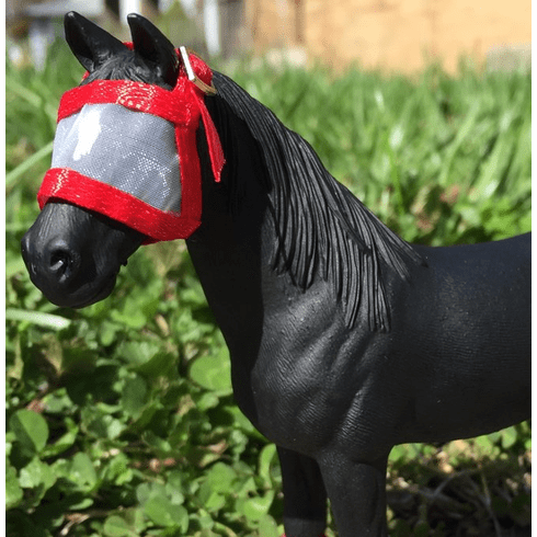 Fly Mask for Adult Horses  - Red