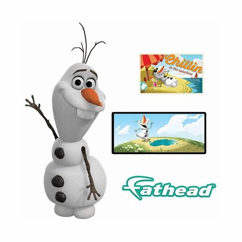 Frozen Olaf The Snow Man Peel and Stick Wall Decals