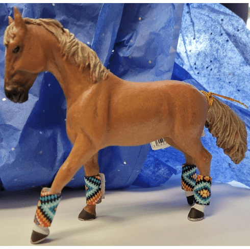 Horse Polo Wraps in Southwestern Colorful - Set of 4
