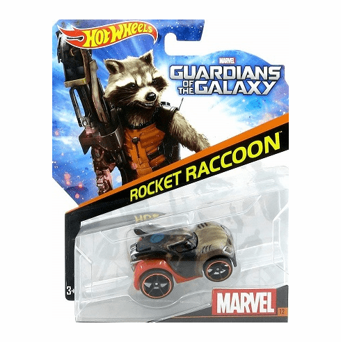 Hot Wheels, Marvel Character Car, Guardians of the Galaxy Rocket Raccoon #12