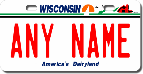 Kid License Plate - Wisconsin
