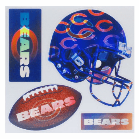 NFL CHICAGO BEARS Ultraflip Holographic 3D Magnet Set