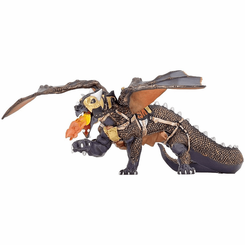 Papo - Black and Gold War Dragon