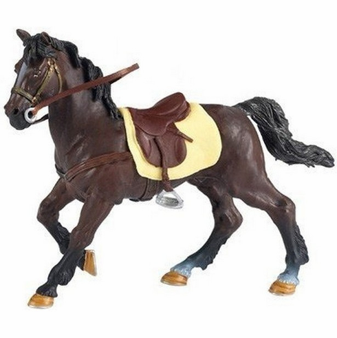 Papo - Brown Horse w/ Saddle