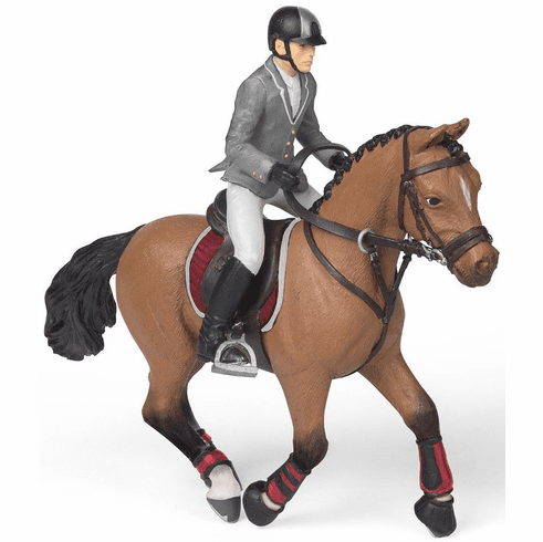 Papo - Competition Horse with Rider