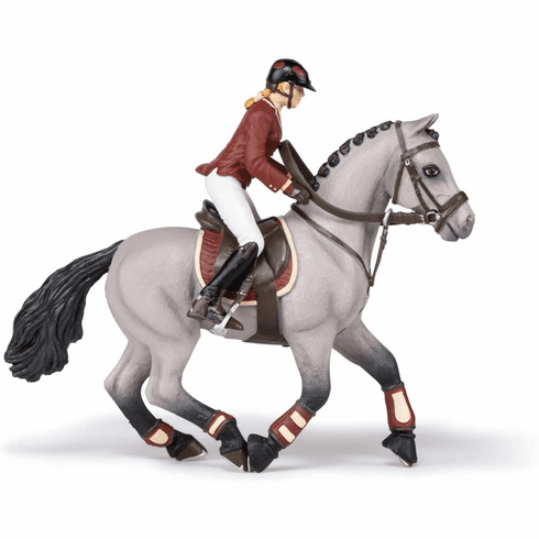 Papo - Competition Horse with Riding Girl