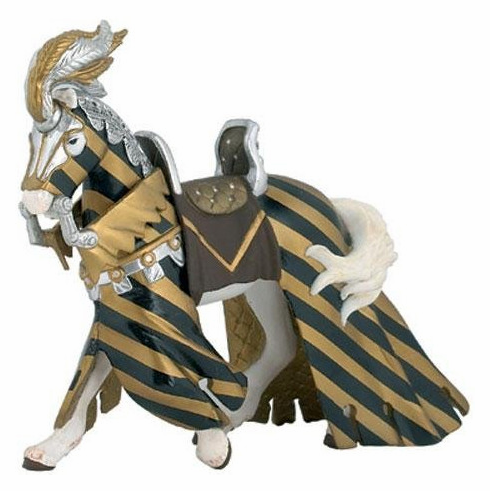 Papo - Draped Tournament Horse - Gold and Black