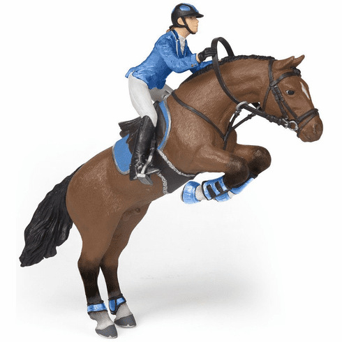 Papo - Jumping Horse with Riding Girl