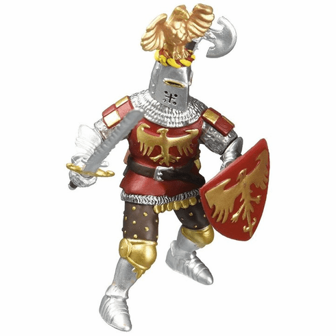 Papo - Knight with Crest - Red - New