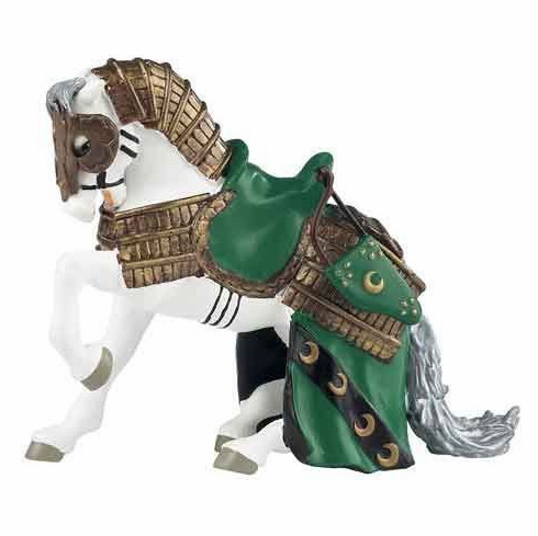 Papo - Oriental Knight Horse - Green