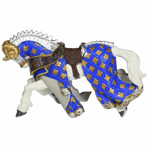 Papo - Ram Knight Horse - Blue