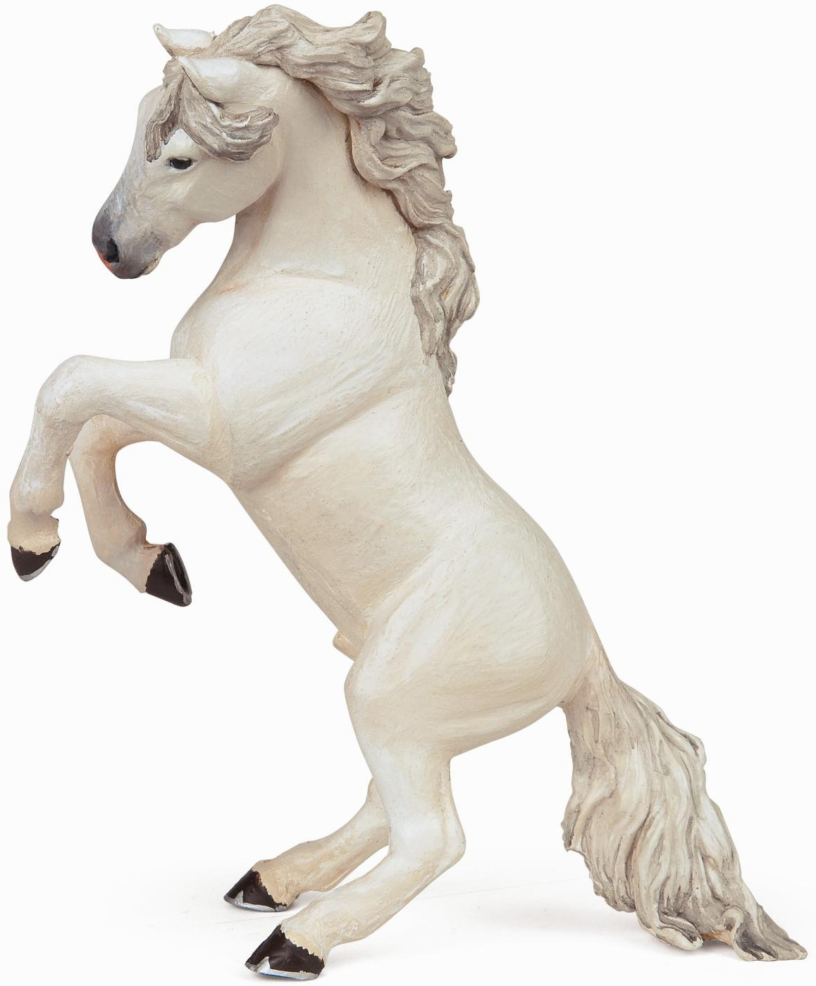 Papo - Reared-Up Horse - White - New Style