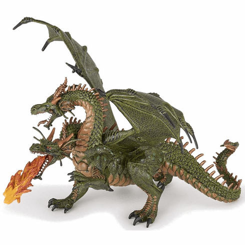 Papo - Two Headed Dragon - Green