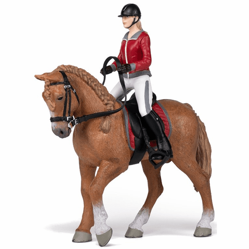 Papo - Walking Horse with Riding Girl