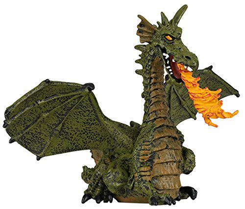Papo - Winged Green Dragon w/ Flame