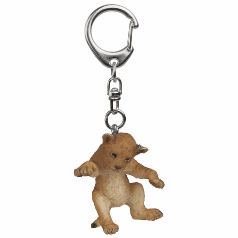 Papo - Young Lion on its back Keychain