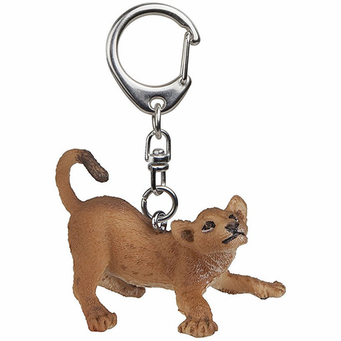Papo - Young Lion Playing Keychain