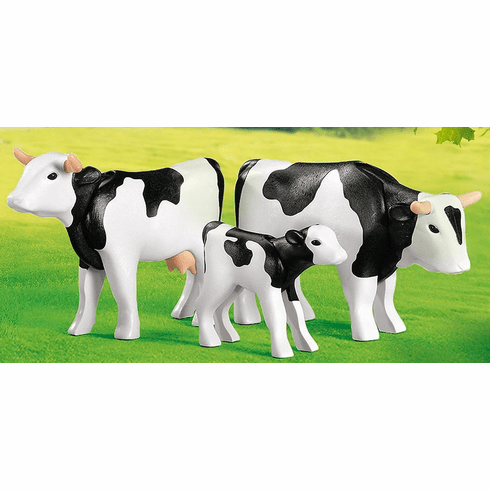 Playmobil - Black and White Cow Family