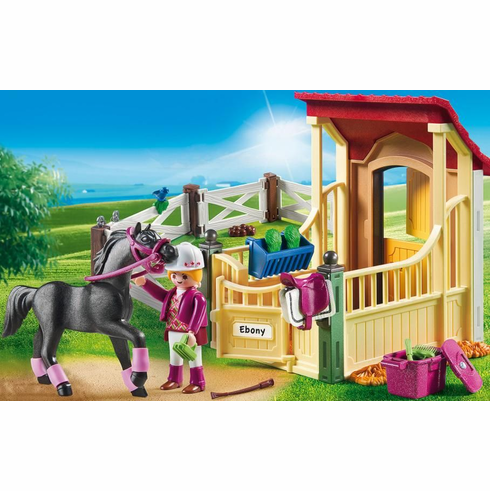 Playmobil -  Horse Stable with Araber - Damaged Box