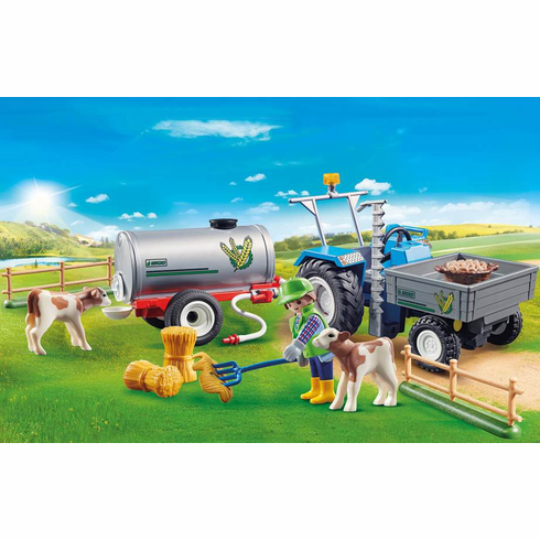 Playmobil - Loading Tractor with Water Tank