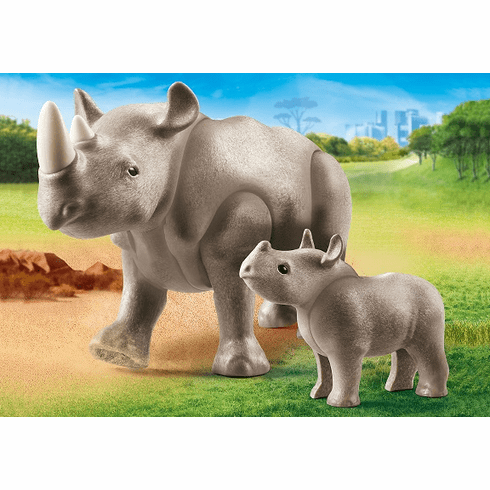 Playmobil - Rhino with Calf