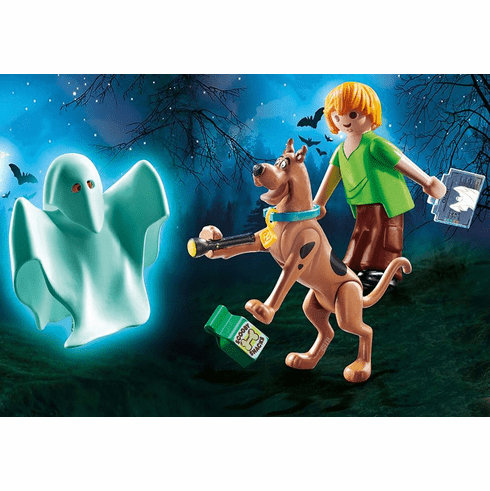 Playmobil - SCOOBY DOO! Scooby and Shaggy with ghost