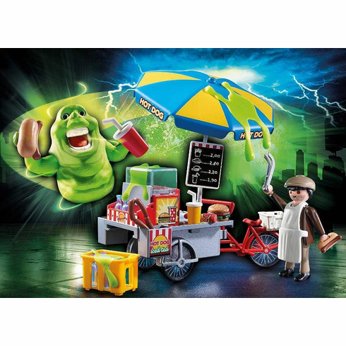 Playmobil - Slimer with Hot Dog Stand - Damaged Box