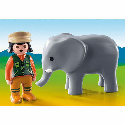 Playmobil - Zookeeper with Elephant
