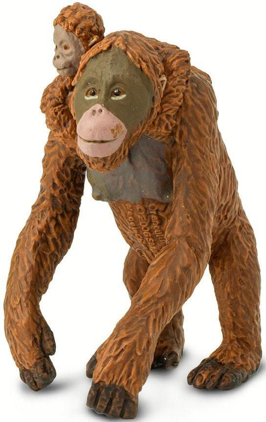 Safari Ltd Wildlife Orangutan With Baby By Safari Ltd 293529