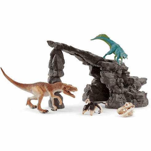 Schleich - Dinosaur Set With Cave