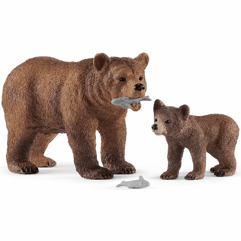 Schleich - Grizzly Bear Mother with Cub