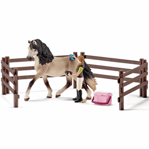 Schleich - Horse Care Set, Andalusian