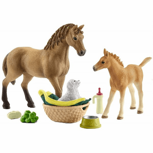 Schleich - Sarah's Baby Animal Care w/ Quarter Horses