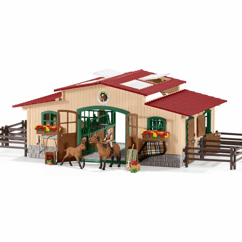 Schleich - Stable w/ Horses & Accessories
