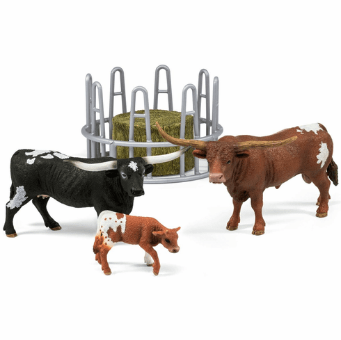 Schleich - Texas Longhorn Family on the Pasture