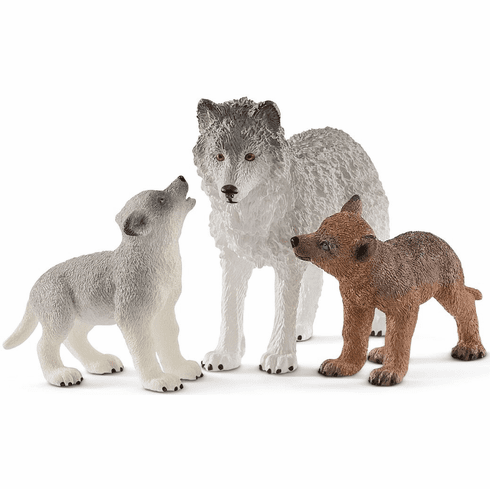 Schleich - Wolf Mother with Pups