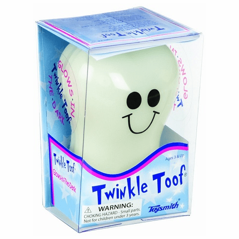 Toysmith Twinkle Toof Tooth (Glows in the Dark)