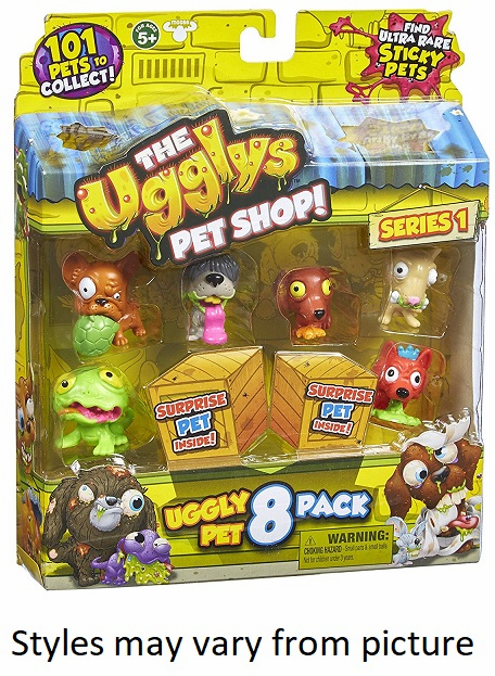 Uggly Pets - Random 8 Pack- Assorted Styles - May Vary from Picture.