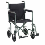 Drive Medical 17 inch Flyweight Lightweight Green Transport Wheelchair fw17gr